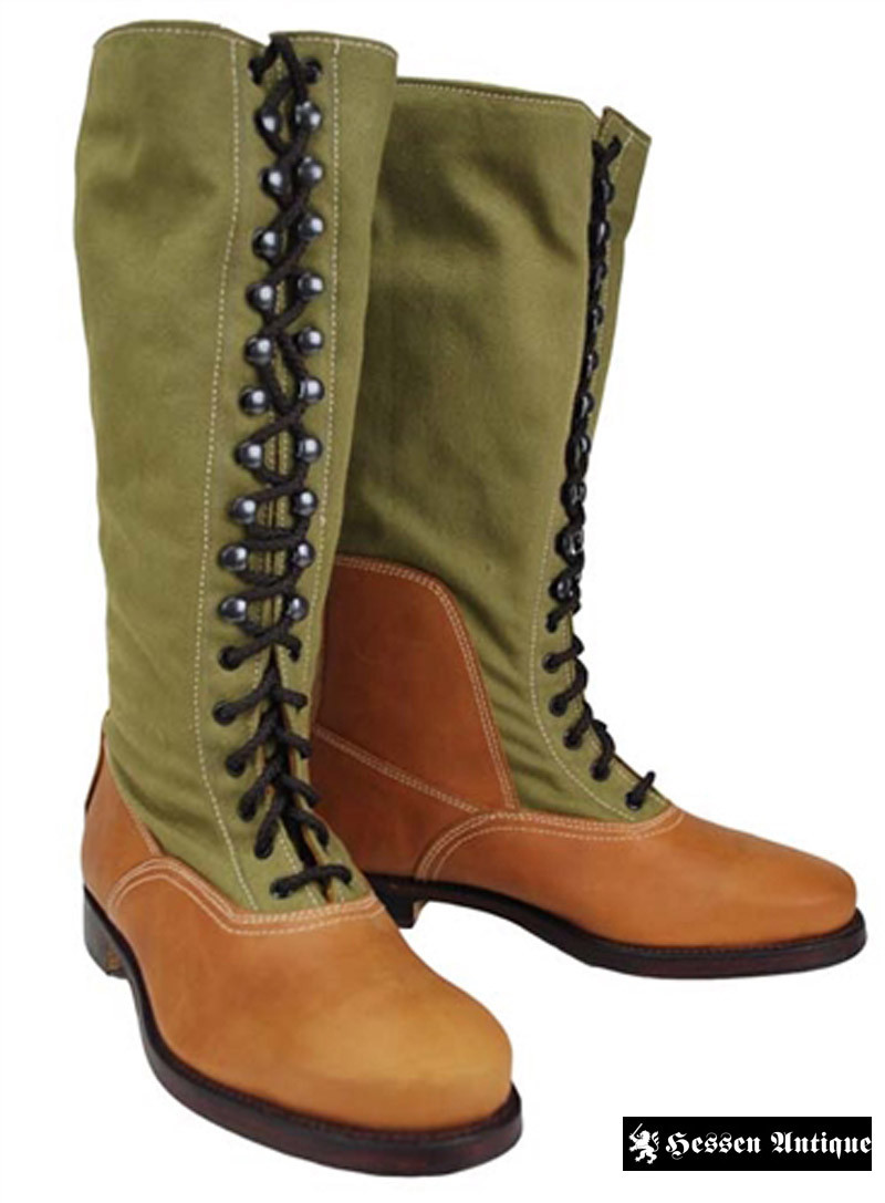 German DAK Tropical High Boots with Hobnails