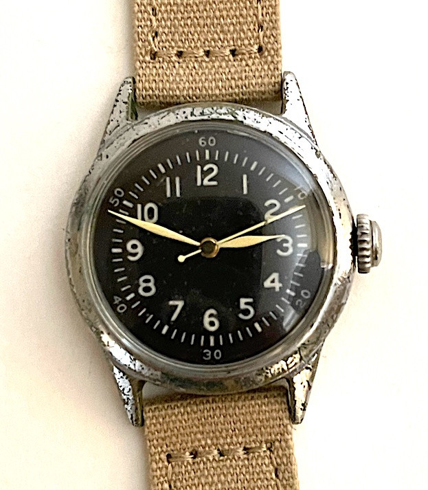 Original WW2 USAAF Type A-11 Watch by Waltham, 1942 (Khaki strap)