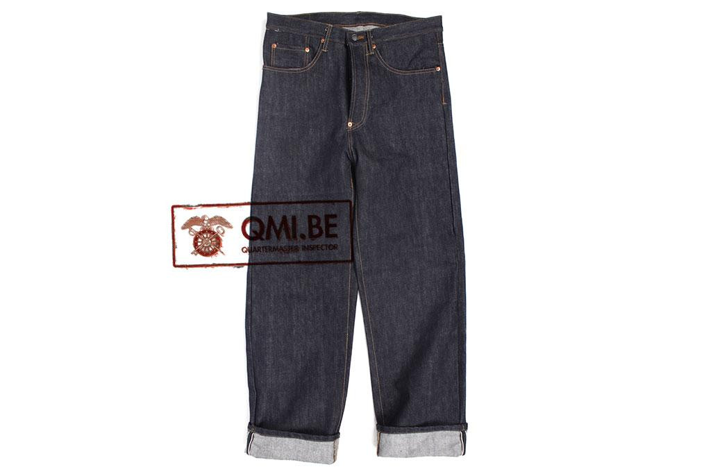 Trousers, Selvage Denim, (model 1940 with back-buckle)