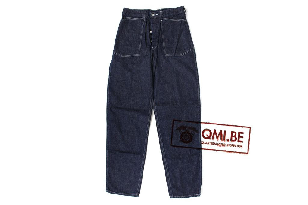 Trousers, Work, Blue-Denim, M1937. De Brabander Mfg. Co.