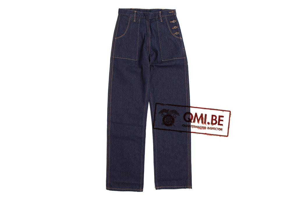 Trousers, Blue Denim, (Women's)