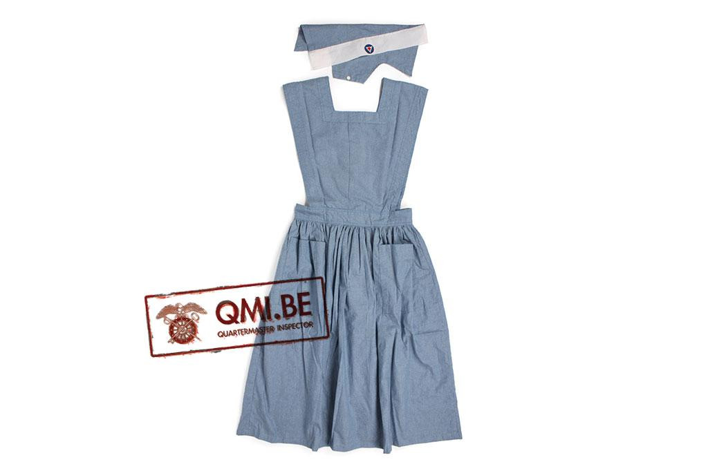 Nurse Aide Service Dress w/ Cap
