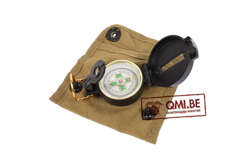 Compass, pouch with compass