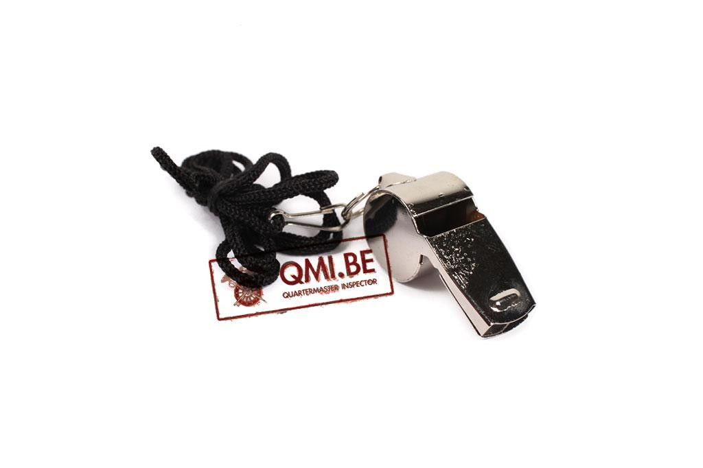 Whistle (chrome) with lanyard