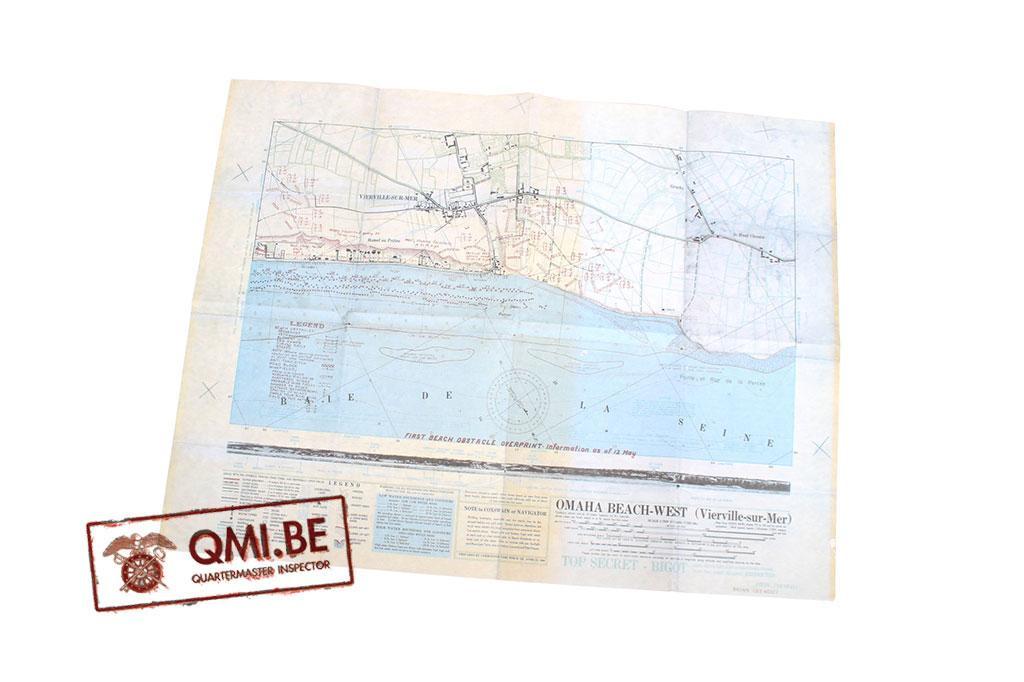 Bigot Map, Omaha Beach-West (Vierville-sur-Mer)