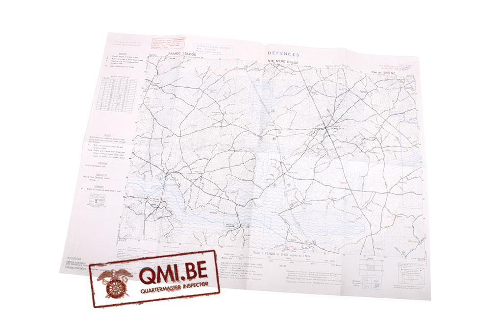 Defences Map, Ste. Mere Eglise (Second edition, APR. 1944)