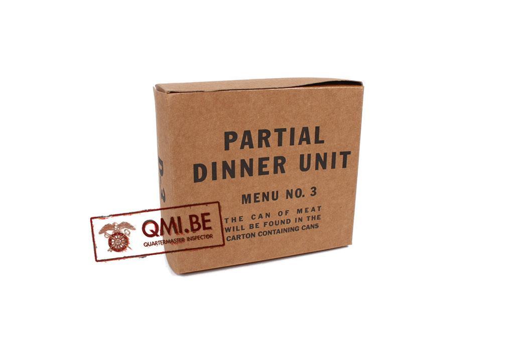 Partial Dinner Unit, D-3