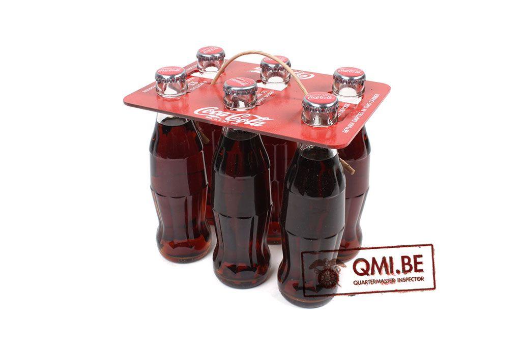 "Coca-Cola Repro. 1944 ""Neck Grip"" Carrier + 6 bottles"
