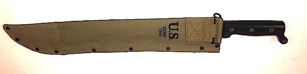 "Canvas Scabbard + Machete knife (18"")"
