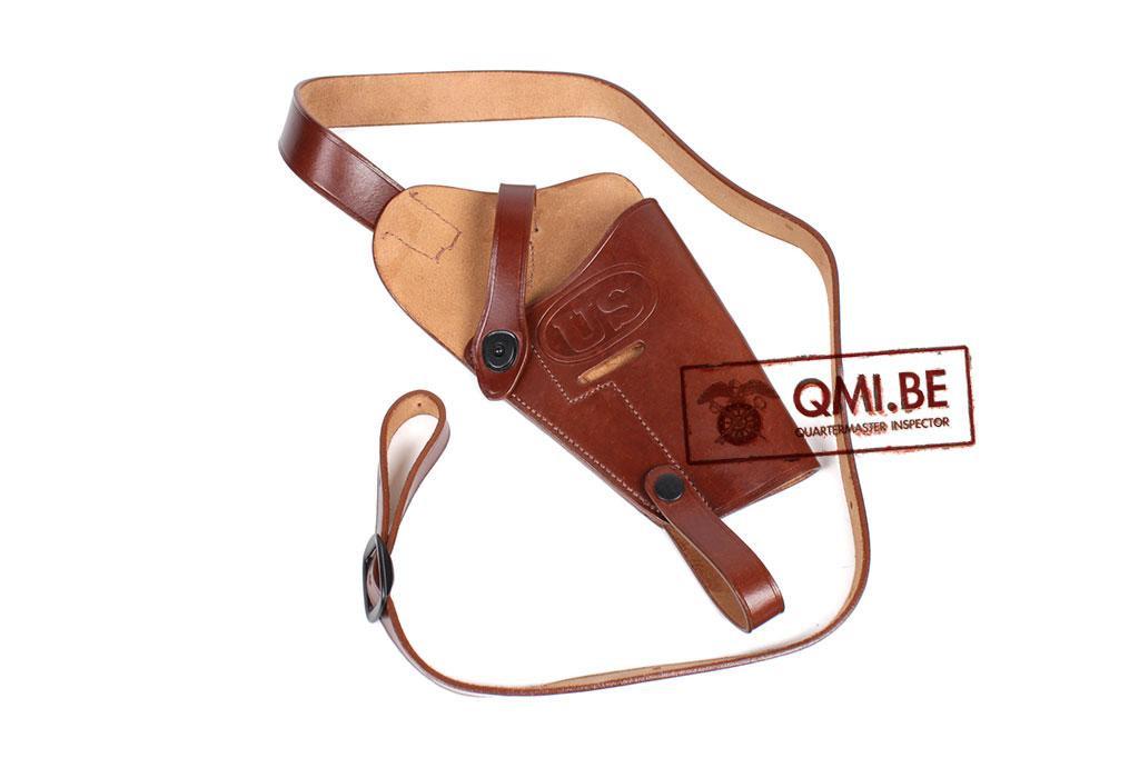 Leather Shoulder holster M3, (Colt.45) Brown