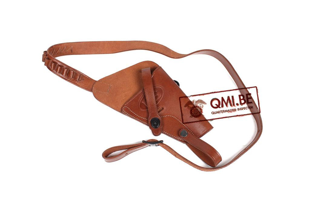 Leather Shoulder Holster, S&W .38 Victory (brown)