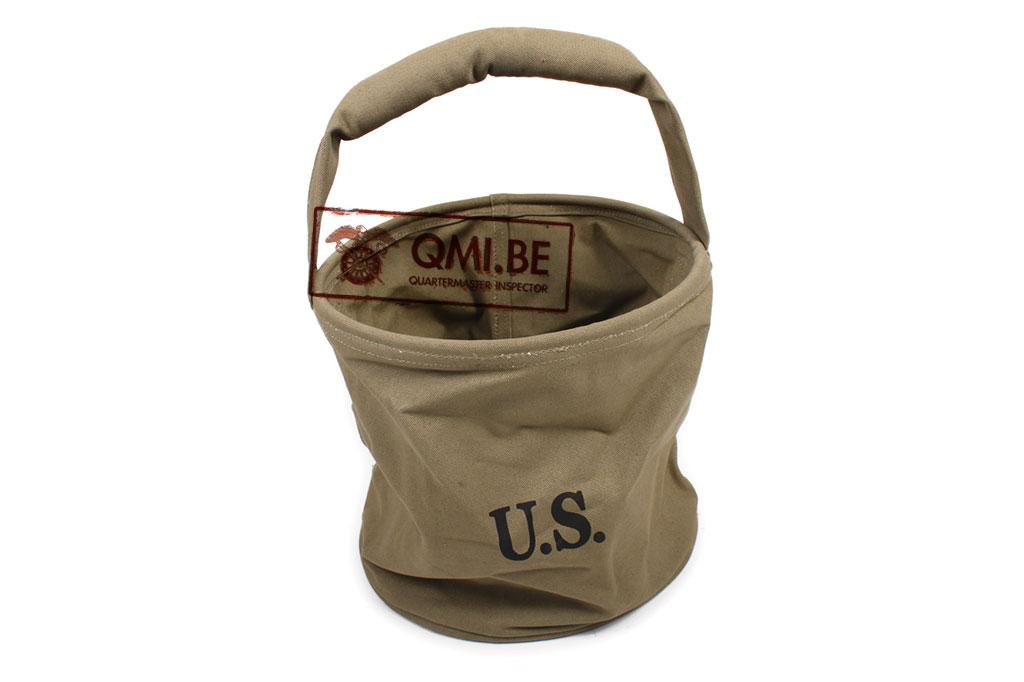 US WWII Fold up Canvas Water bucket