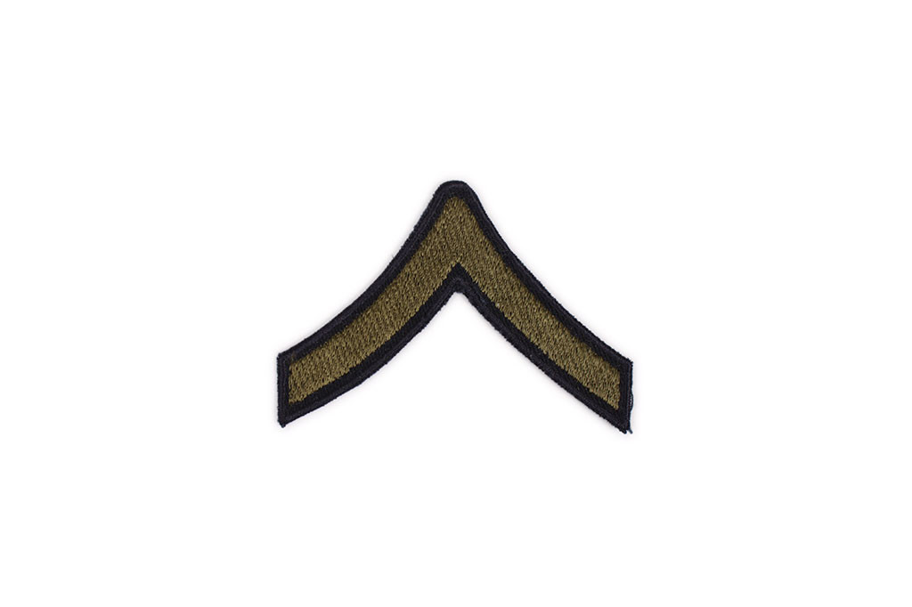Patch, Private First Class, OD (pair)
