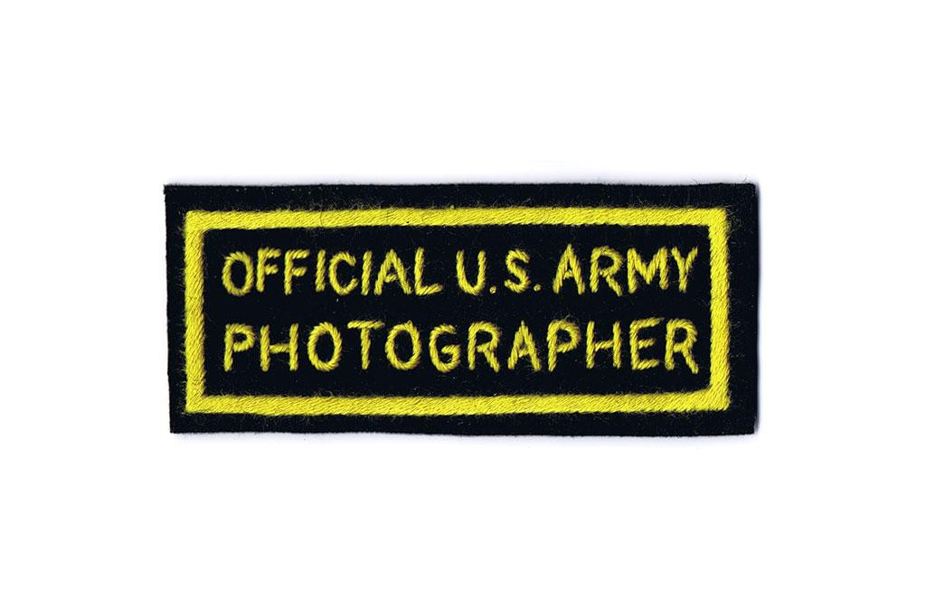 Patch, Official U.S. Army Photographer