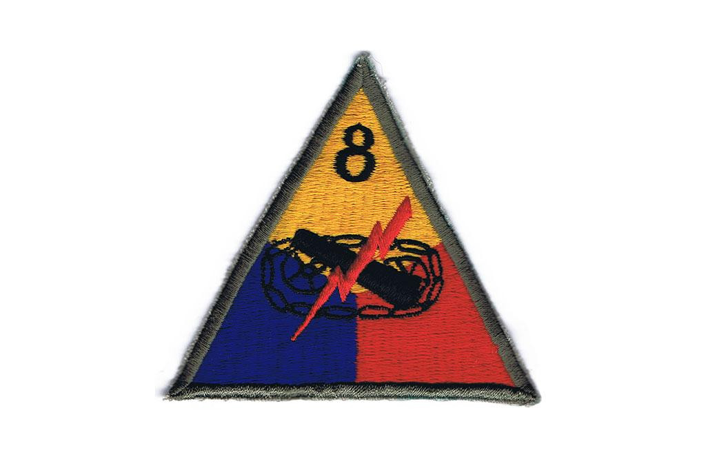 Patch, 8th Armored Division (Iron Snake)