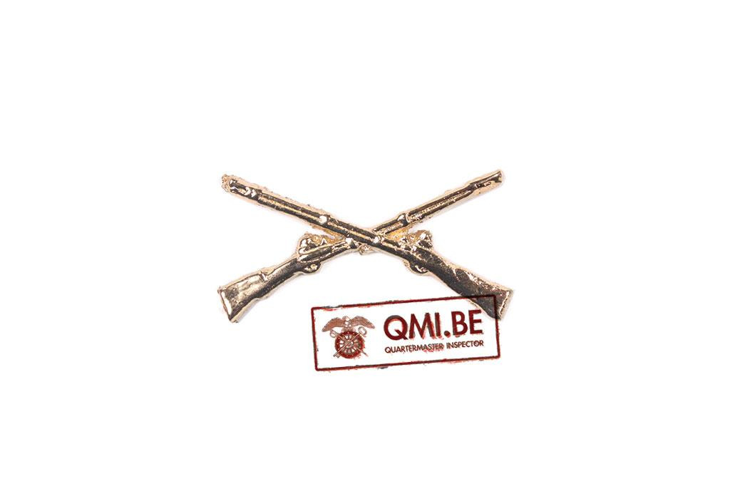 Collar pin, Infantry Officer (Crossed rifles)