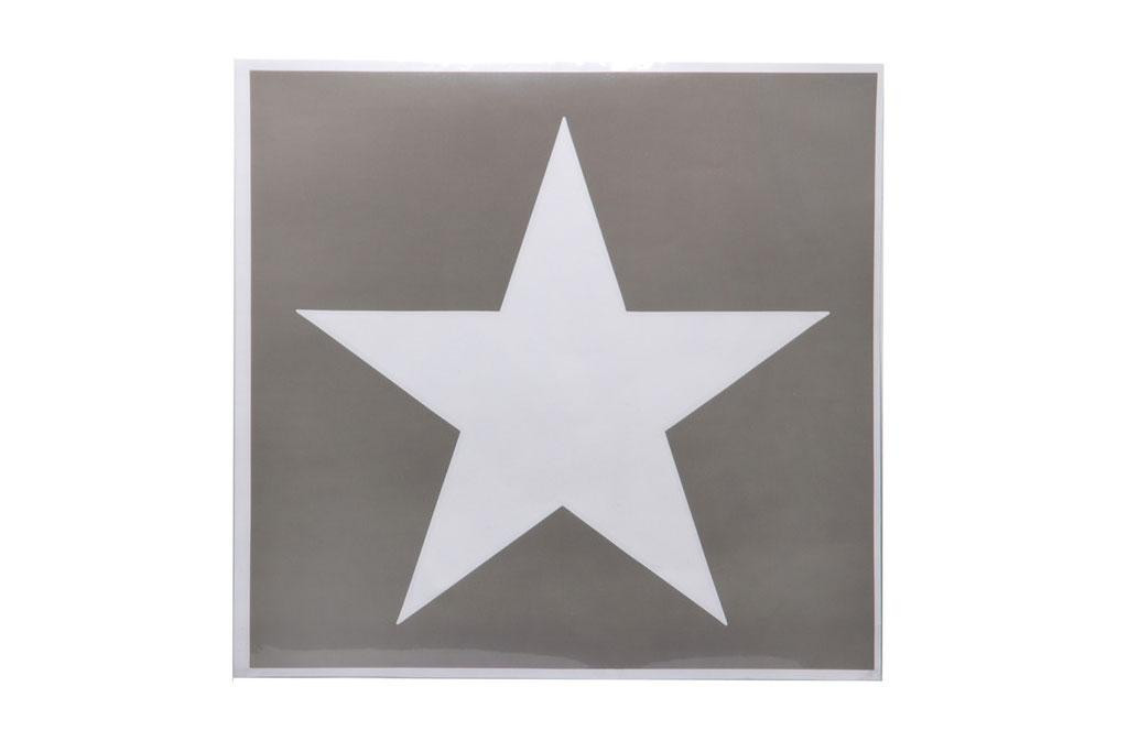 Template (stencil) Sticker, U.S. Star, Large (49 cm.)