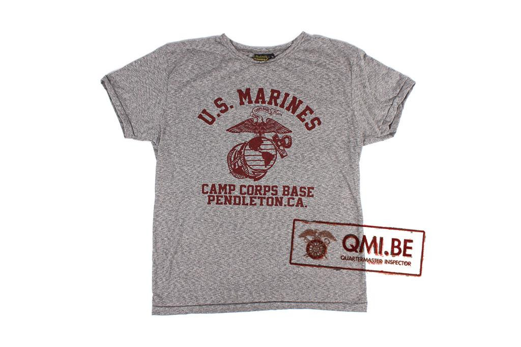 T-shirt, Gray, U.S. Marines, Camp Corps Base, Pendleton California