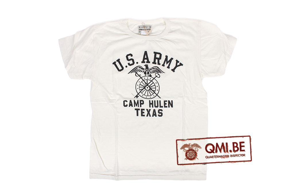 T-shirt, White, U.S. Army Camp Hulen Texas