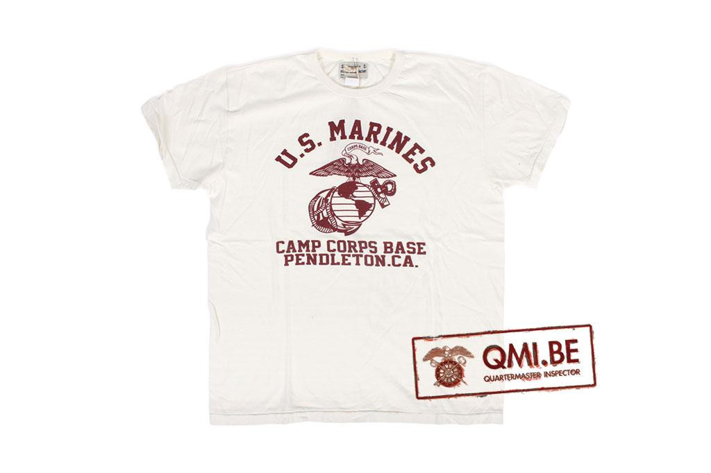 T-shirt, White, U.S. Marines, Camp Corps Base, Pendleton California