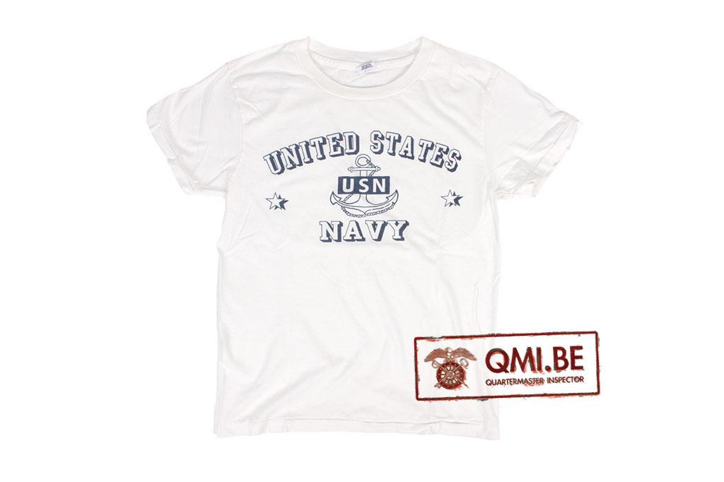 T-shirt, White, U.S. Navy, USN Anchor