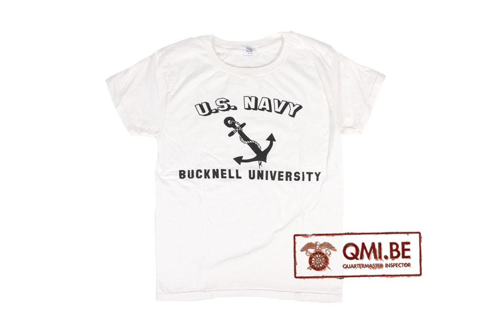 T-shirt, White, U.S. Navy, Bucknell University