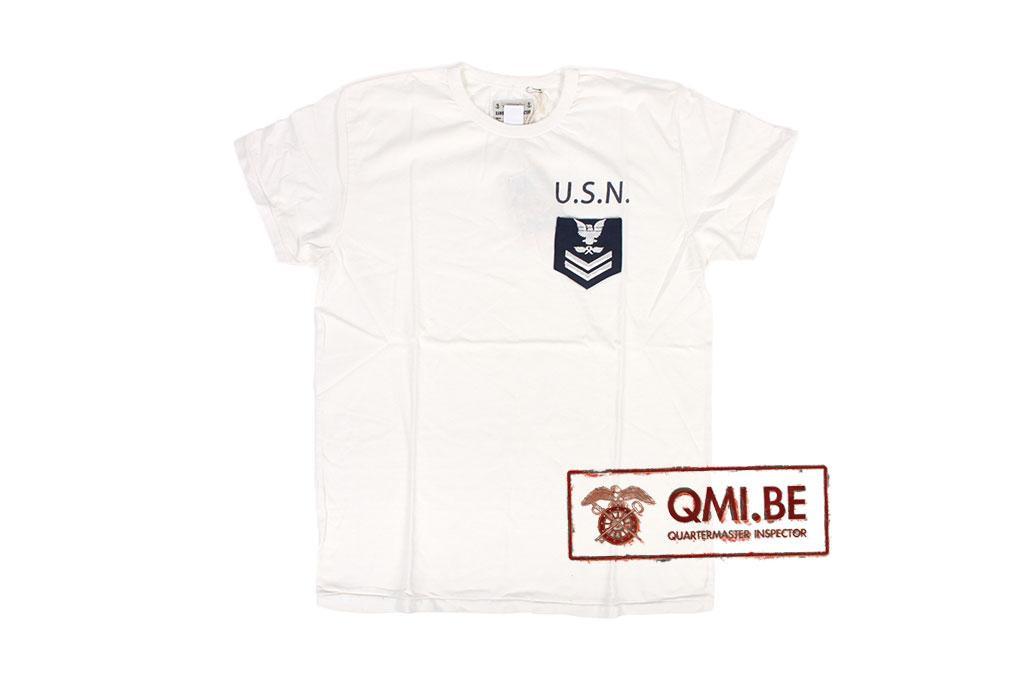 T-shirt, White, U.S.N. (chest pocket)