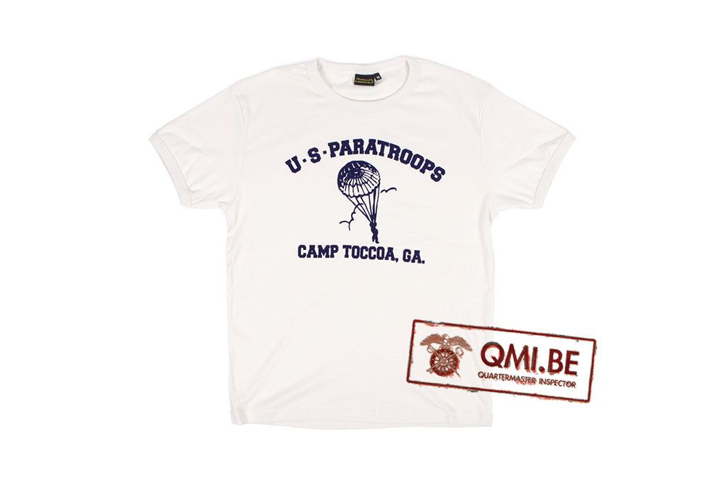 T-shirt, White, U.S. Paratroops, Camp Toccoa, GA.