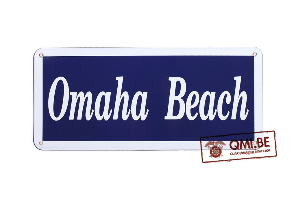 Sign, Omaha Beach, Enameled (45 x 20 cm)