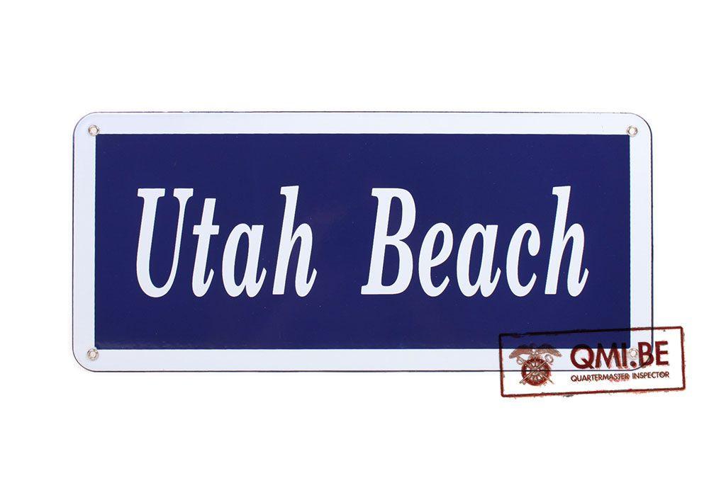 Sign, Utah Beach, Enameled (45 x 20 cm)