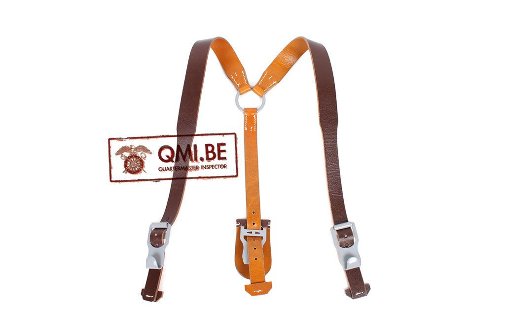 Lightweight Leather Y-straps, (Brown)