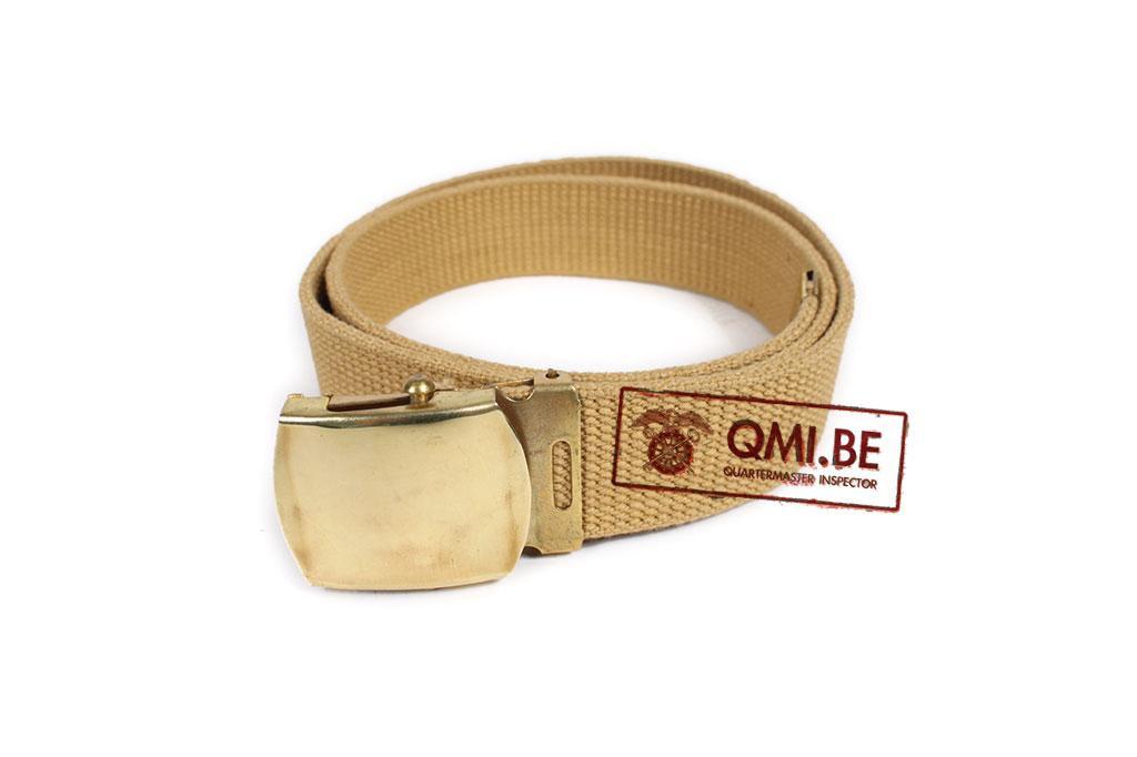 "Army Belt for service men, Khaki, NOS (length: 89cm / 35"")"