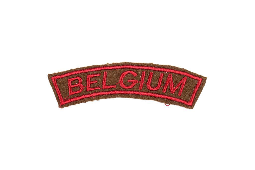 Patch, Belgium (maroon)