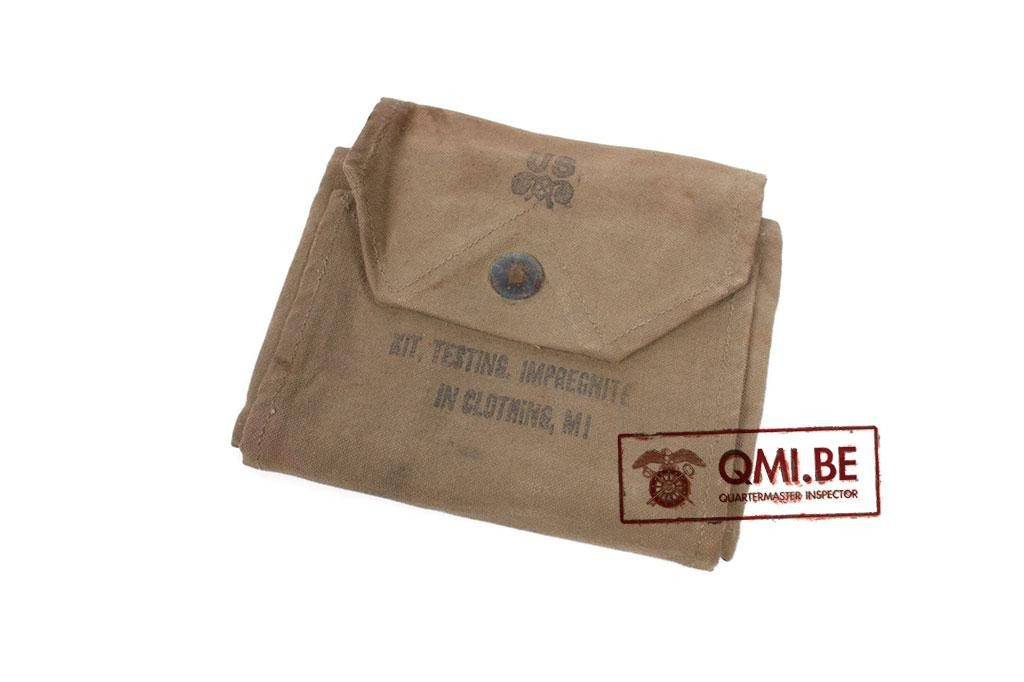 US WWII Kit, testing, impregnite , M1, canvas bag only