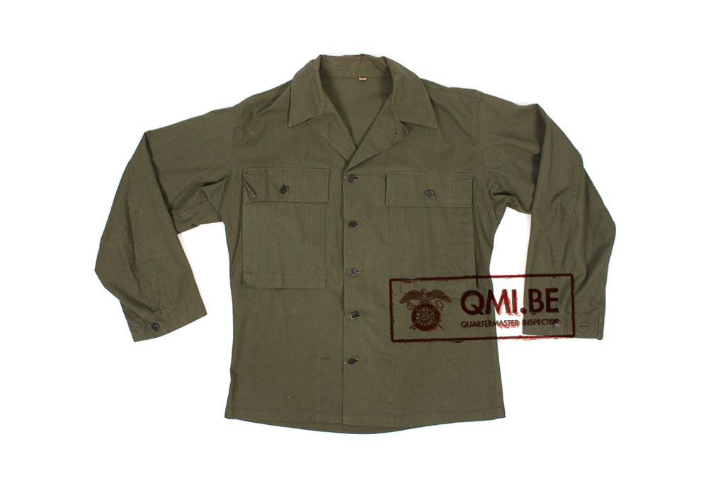 US WW2 HBT jacket, 38R (2)