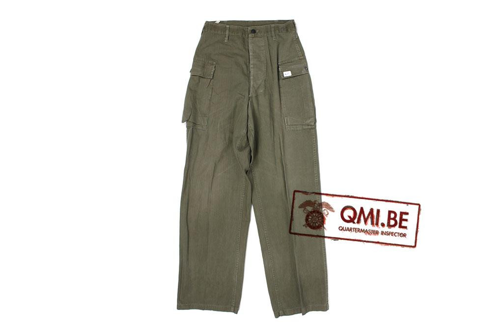 US WW2 HBT trousers, size 30Wx33L