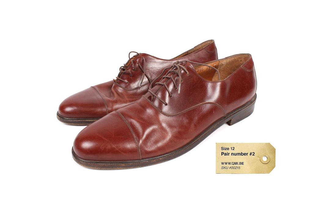 Dress shoes, Brown, Post-war, Used, size 12 pair #2