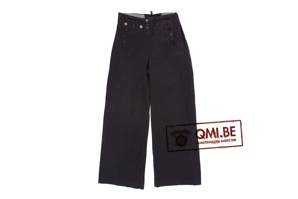 US Navy WW1, blue bell bottom trousers