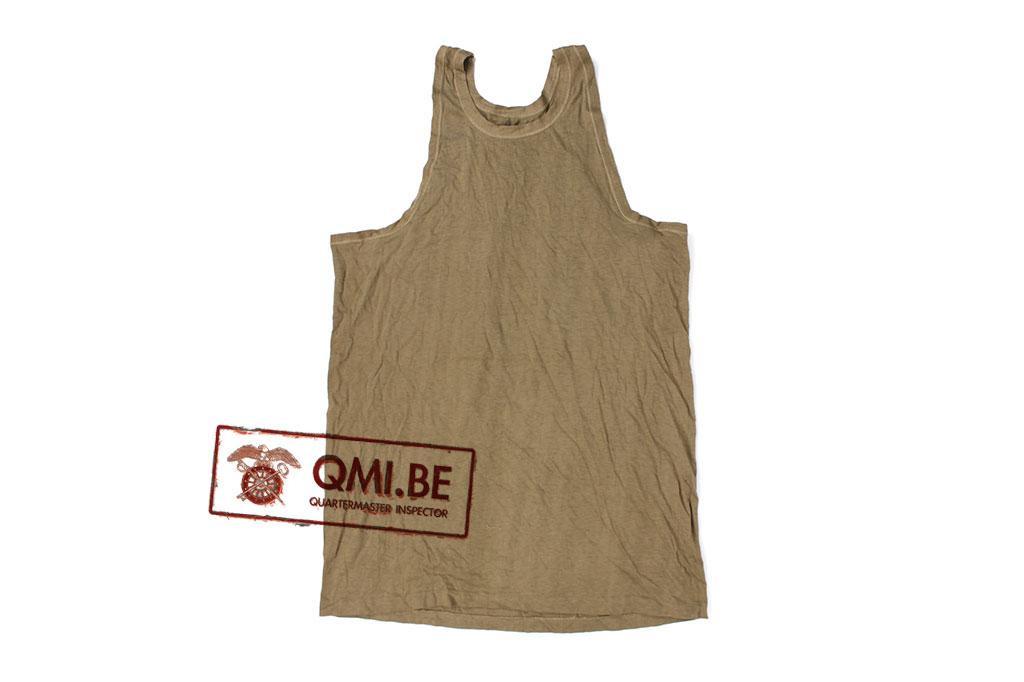 """US WW2 od green """"tank top"""" shirt"""