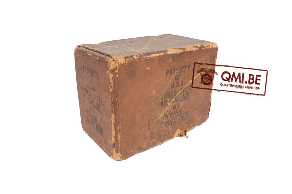 Original cardboard package .50 ammo box