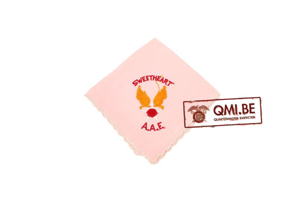 "Original WW2 ""Sweetheart"" handkerchief, AAF (pink)"