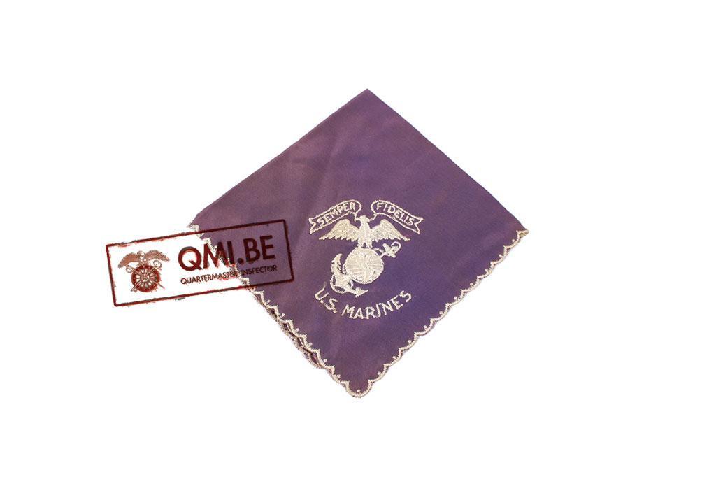 "Original WW2 ""Sweetheart"" handkerchief, USMC (purple)"