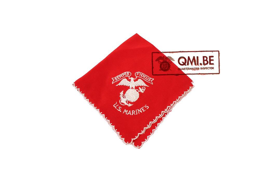 "Original WW2 ""Sweetheart"" handkerchief, USMC (red)"