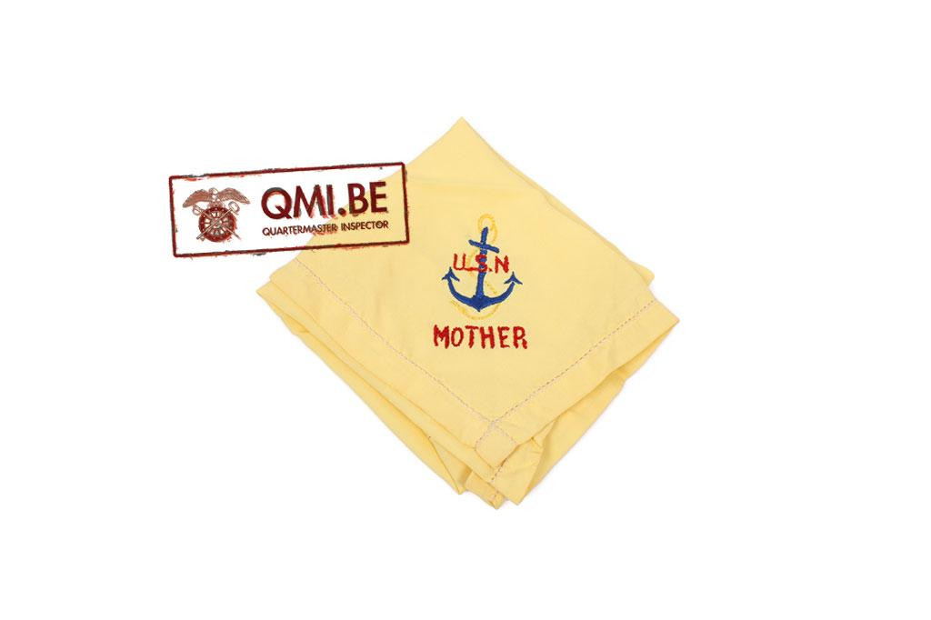 "Original WW2 ""Sweetheart"" handkerchief, USN (yellow)"