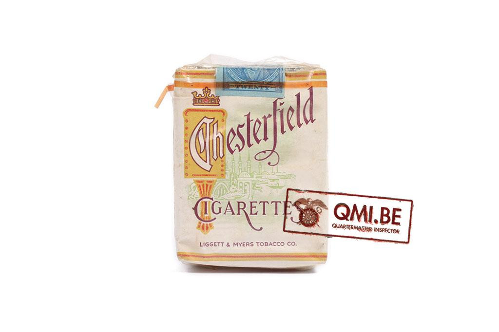 Original package of Chesterfield cigarettes