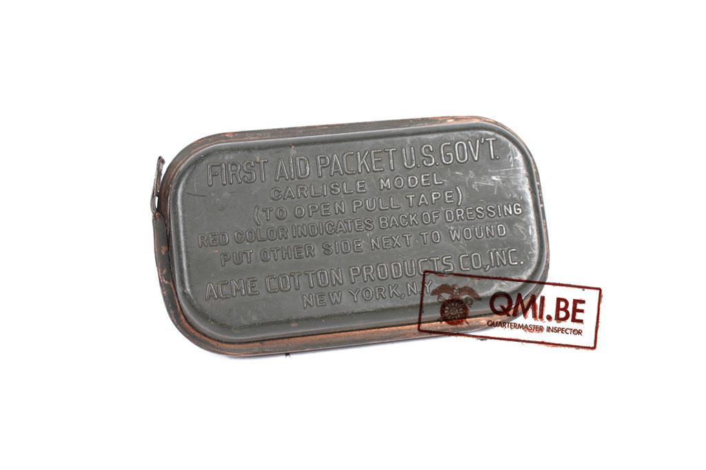 Original US WW2 Carlisle first aid package Plastic variation.