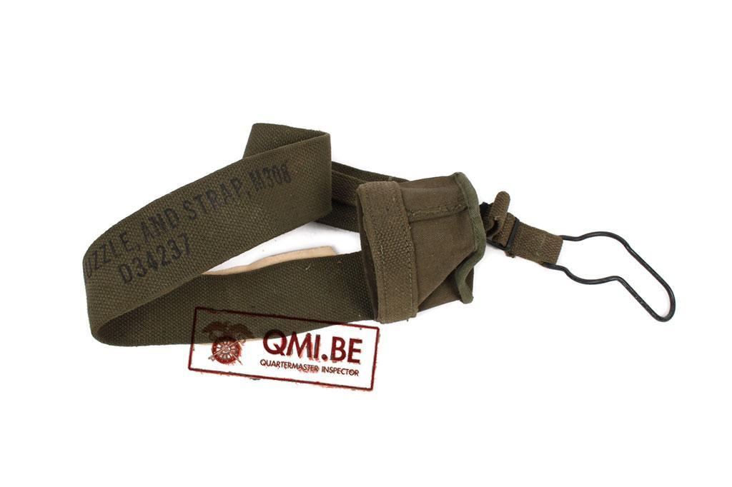 Original WW2, Canvas Muzzle Cover M-308 w/ strap