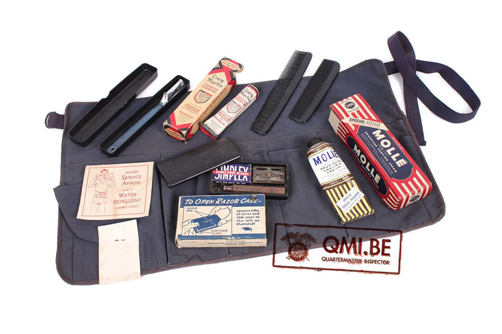 Original USN WW2 Apron Kit with content and original labels