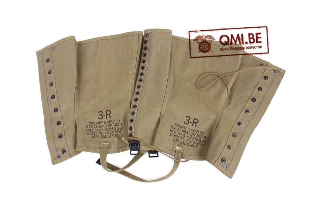 Original US WW2 Leggings size 3R NOS 9-30-1942
