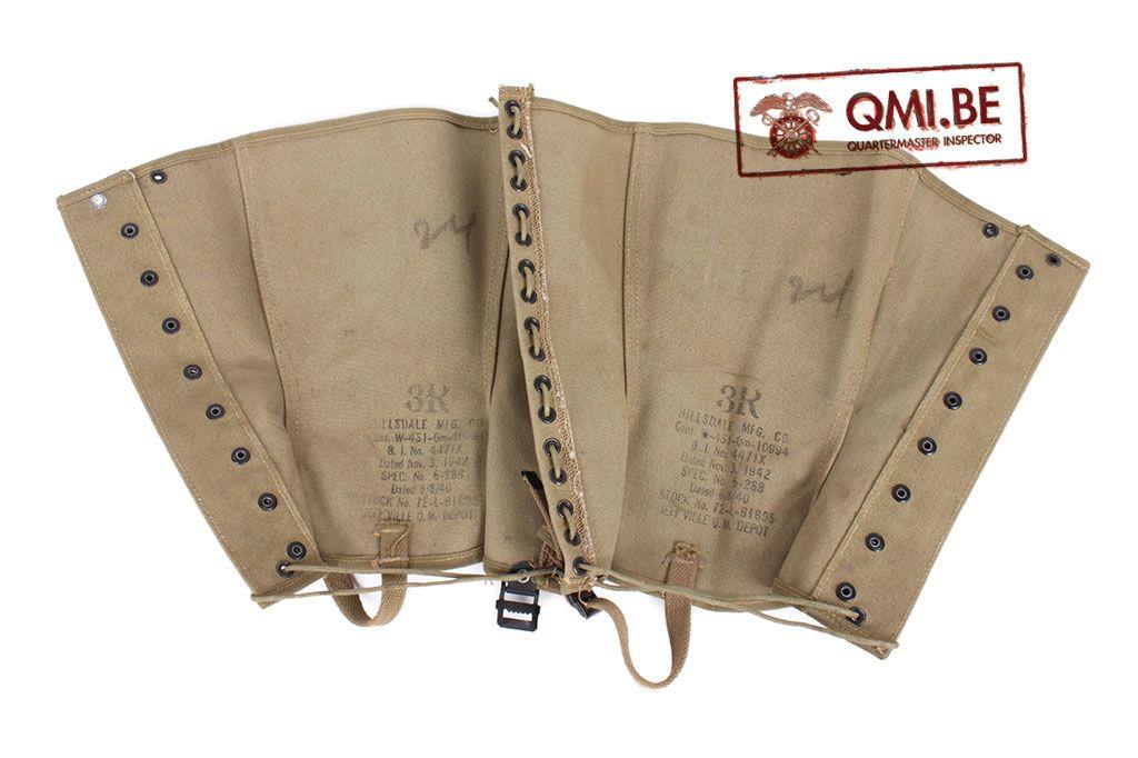 Original US WW2 Leggings size 3R NOS Nov. 3, 1942